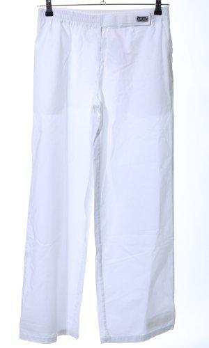 Superga Pantalón elástico blanco look casual