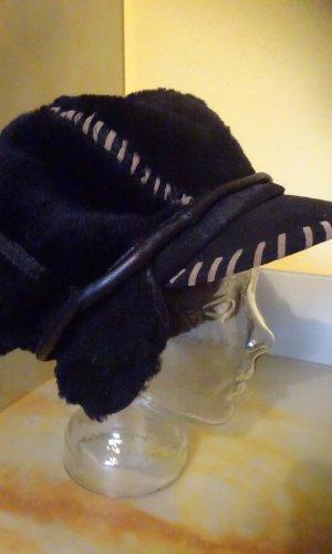 Chapeau en fourrure noir-brun sable fourrure