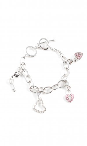 Swarovski Charm Bracelet silver-colored-pink casual look