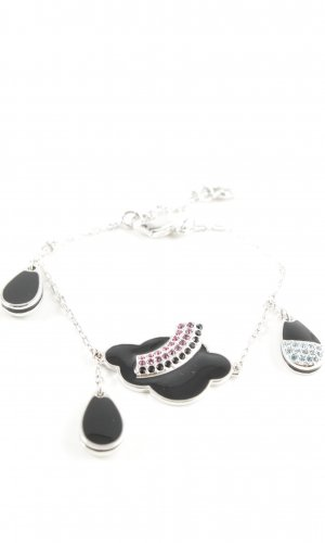 Swarovski Silver Bracelet silver-colored-black casual look