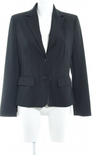 Sweatblazer schwarz-grau Nadelstreifen Business-Look