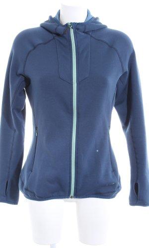 Veste sweat bleu style décontracté