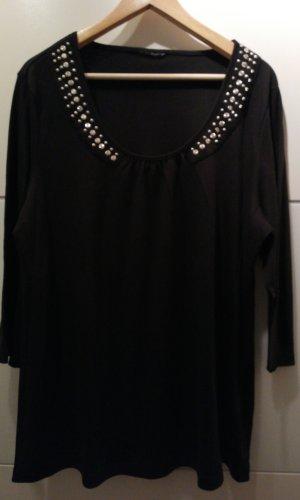 Suéter negro-color plata