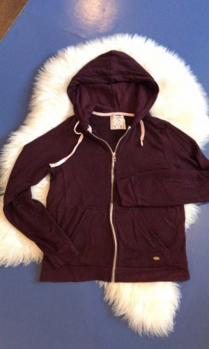Pull & Bear Veste sweat bordeau-brun rouge