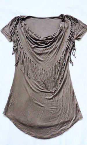 s.Oliver Waterval shirt bruin-lichtbruin
