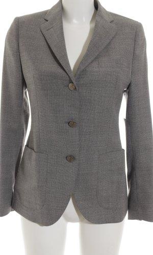 Tagliatore Wollen blazer grijs-lichtgrijs gestippeld klassieke stijl