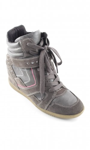 Tamaris High Top Sneaker graubraun-neonpink Casual-Look