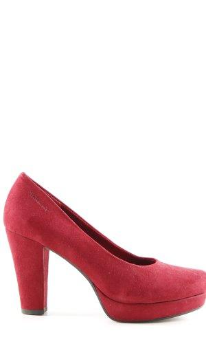 Tamaris Plateauzool pumps rood zakelijke stijl