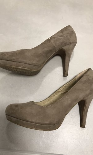 Tamaris Plateauzool pumps beige-grijs-bruin