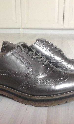 Tamaris Zapatos brogue marrón grisáceo Sintético