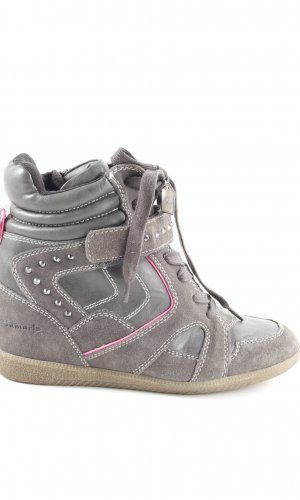 Tamaris Wedge Sneaker hellgrau-pink Casual-Look