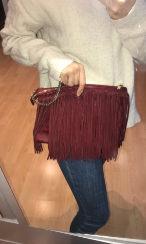 H&M Fringed Bag bordeaux