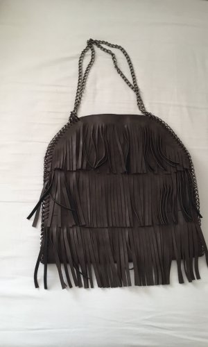 Stella McCartney Fringed Bag dark brown