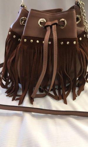 Diane von Furstenberg Fringed Bag brown