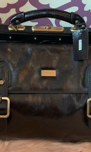 Osprey Weekender Bag black-gold-colored leather