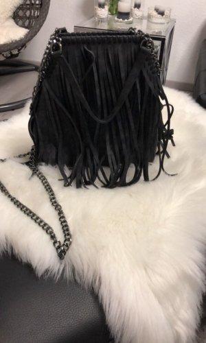 Fringed Bag black