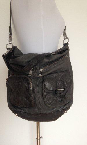 Liebeskind Crossbody bag green grey leather