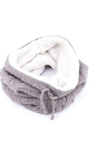 Tchibo / TCM Écharpe ronde gris clair-blanc moucheté style décontracté