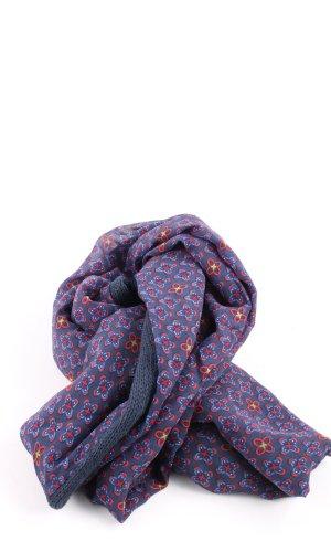 Tchibo / TCM Écharpe ronde bleu-rouge motif abstrait style décontracté