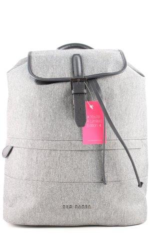 Ted baker Sac à dos pour ordinateur portable gris clair-noir moucheté