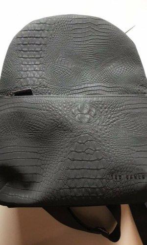 Ted baker Sac à dos pour ordinateur portable gris-argenté faux cuir