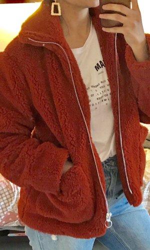 Topshop Between-Seasons-Coat dark orange-russet