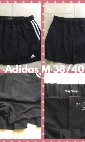 Adidas Jupes-culottes blanc-noir lycra