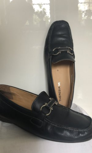 Theresia M. dunkelblaue Damen Loafer Leder