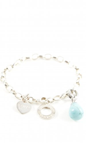Thomas Sabo Charm Bracelet silver-colored-turquoise casual look