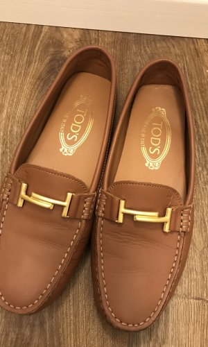 Tod's Moccasins cognac-coloured-gold-colored