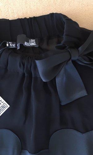 Love Moschino Robe ballon noir tissu mixte