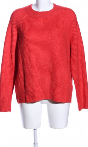 Tom Tailor Denim Strickpullover rot Casual-Look