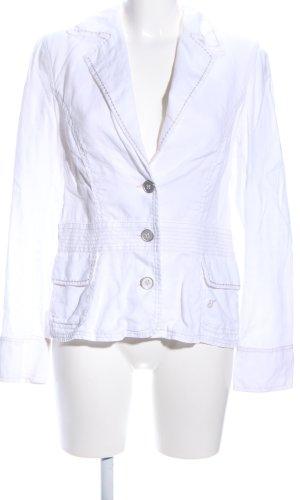 Tom Tailor Lange blazer wit prints met een thema casual uitstraling