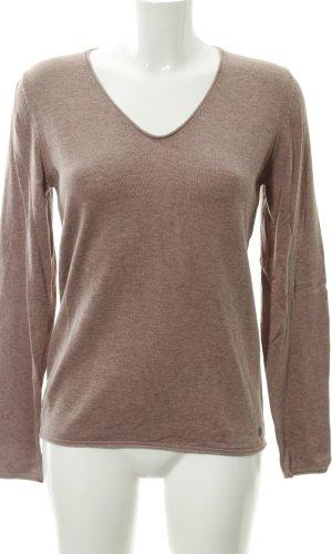 Tom Tailor V-Ausschnitt-Pullover blasslila Casual-Look