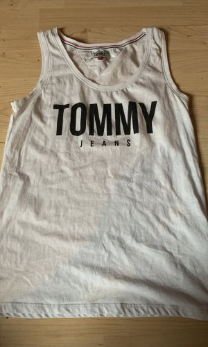 Tommy Jeans Top básico blanco