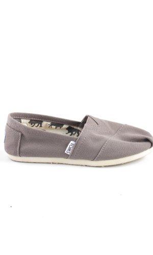 Toms Zapatos sin cordones gris claro look casual
