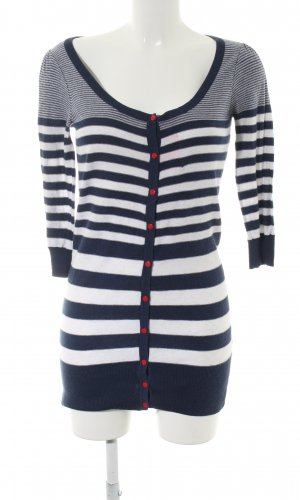Topshop Cardigan blue-white striped pattern casual look