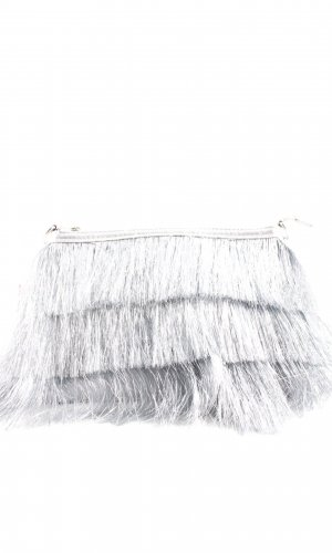 Topshop Fringed Bag silver-colored extravagant style