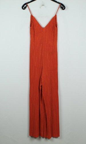 Topshop Jumpsuit dark orange-neon orange polyester