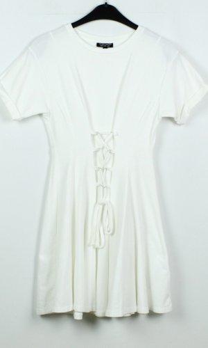 Topshop Shortsleeve Dress white cotton