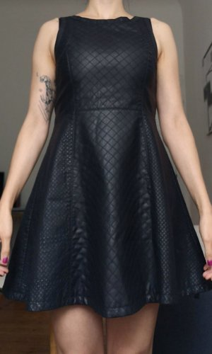 Topshop Leather Dress black imitation leather