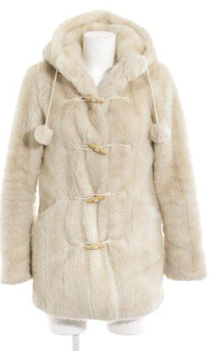 Topshop Fake Fur Jacket cream casual look