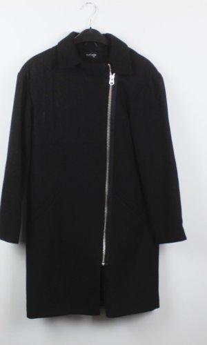 Topshop Winter Coat black mixture fibre