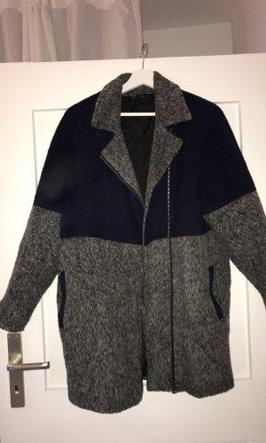 Topshop Winter Coat dark blue-grey