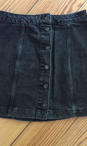 Topshop Denim Skirt anthracite