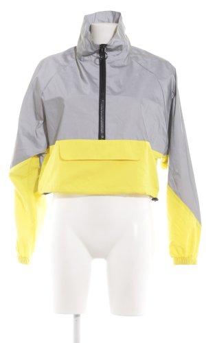 Topshop Poncho para lluvia gris claro-amarillo pálido look casual