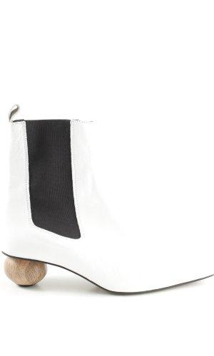 Topshop Slip-on Booties white-black extravagant style