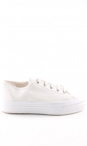 Topshop Lace-Up Sneaker cream athletic style