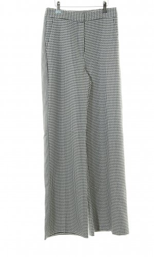 Topshop Jersey Pants black-white houndstooth pattern business style