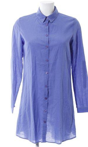 Lange blouse blauw zakelijke stijl